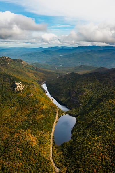 Upper And Lower Cascade Plus Balanced Rock Aerial Photography Art | Kurt Gardner Photogarphy Gallery