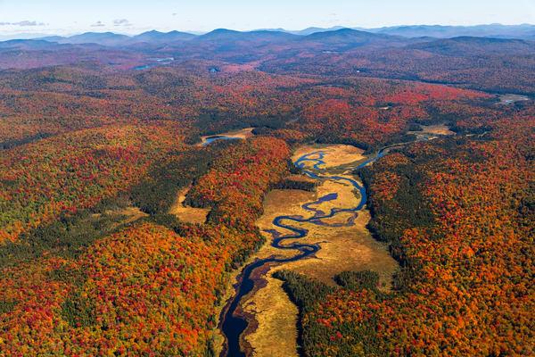 West Canada Creek Fall Aerial Photography Art | Kurt Gardner Photogarphy Gallery