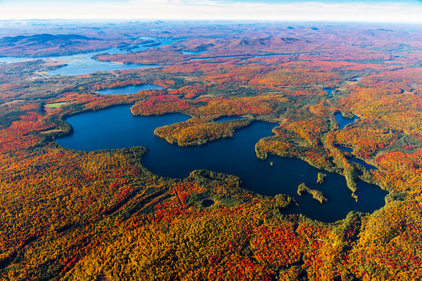 Wolf Pond Fall Aerial V1 Photography Art | Kurt Gardner Photogarphy Gallery