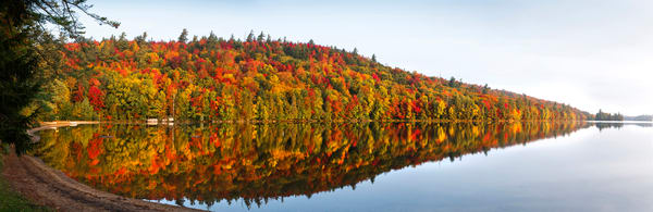 8th Lake Fall Panoramic Photography Art | Kurt Gardner Photogarphy Gallery