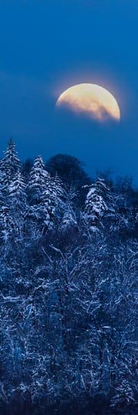 Full Moon Vertical Panoramic Photography Art | Kurt Gardner Photogarphy Gallery
