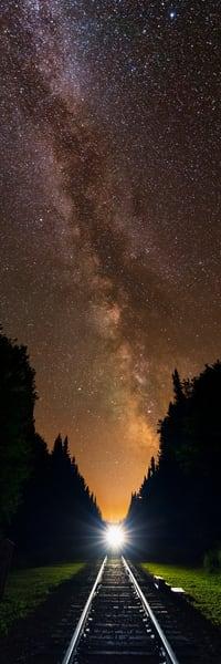 Milky Way Over Adk Rr Panoramic Photography Art | Kurt Gardner Photogarphy Gallery