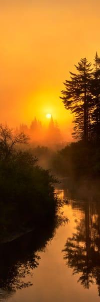 Moose River Summer Sunrise Panoramic Photography Art | Kurt Gardner Photogarphy Gallery