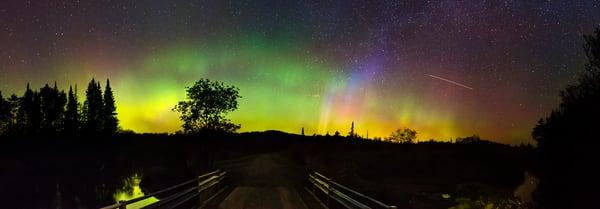 Northern Lights North St Bridge Panoramic Photography Art | Kurt Gardner Photogarphy Gallery