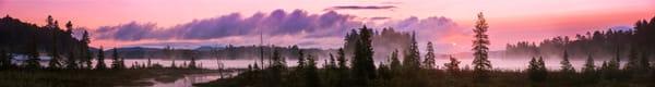 Raquette Lake Sunrise Ultra Panoramic Photography Art | Kurt Gardner Photogarphy Gallery