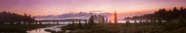 Raquette Lake Sunrise Ultra Panoramic V2 Photography Art | Kurt Gardner Photogarphy Gallery