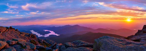 Whiteface Mt Sunset Panoramic Photography Art | Kurt Gardner Photogarphy Gallery