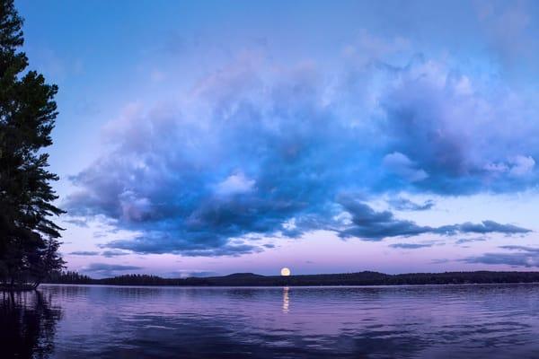 1st Lake Moon Rise Photography Art | Kurt Gardner Photogarphy Gallery