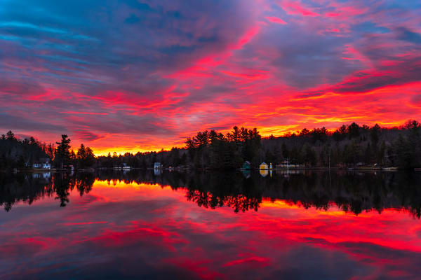 Old Forge Pond Pink Sunrise Photography Art | Kurt Gardner Photogarphy Gallery