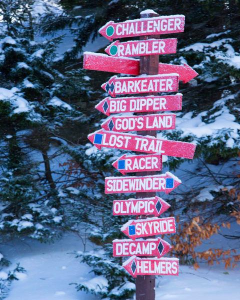 Mc C Auley Mt Trail Sign Photography Art   Kurt Gardner Photogarphy Gallery
