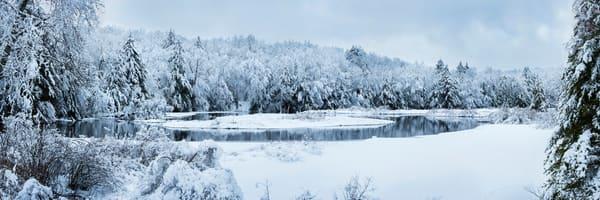 Moose River Green Bridge Winter View Photography Art   Kurt Gardner Photogarphy Gallery