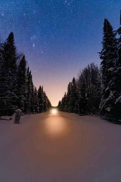 Snowmobile Stary Night Photography Art   Kurt Gardner Photogarphy Gallery