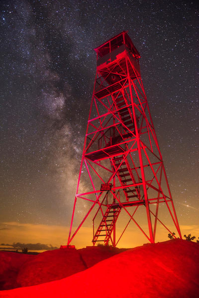 Bald Mt Red Fire Tower Milky Way Photography Art | Kurt Gardner Photogarphy Gallery