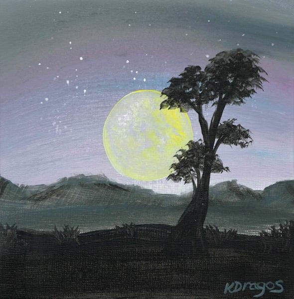 Magical Moon Acrylic Artwork