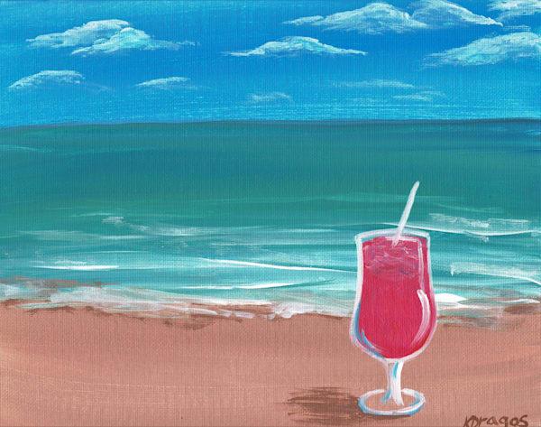 Drinks on the Beach Acrylic Artwork