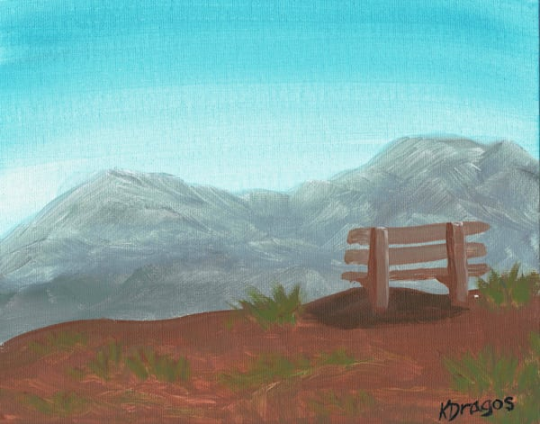 Peaceful Bench Acrylic Artwork