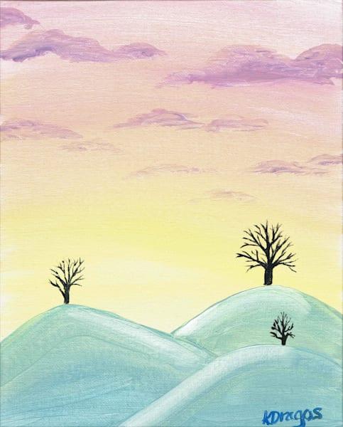 Snow Covered Hills Acrylic Artwork