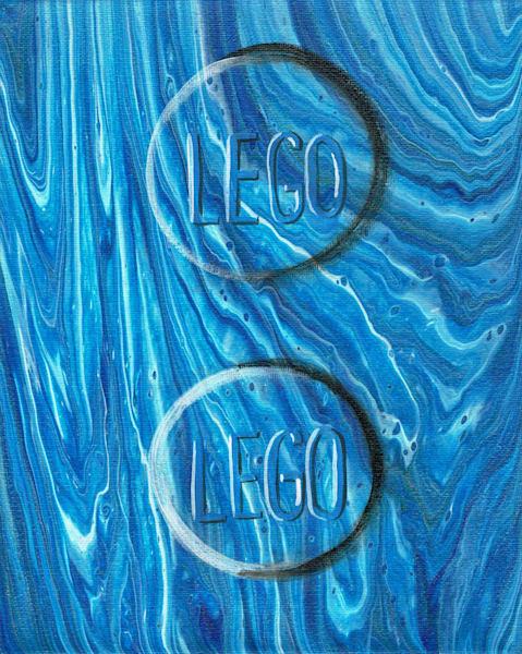 Lego Fluid Art Acrylic Pour Painting