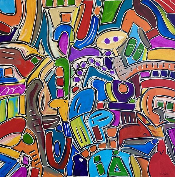 """Thai One On"" Original 30"" X 30"" Art | Garry Scott Wheeler Artwork LLC"