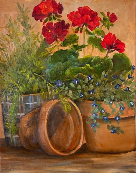 Patio Pots Art | Marsha Clements Art