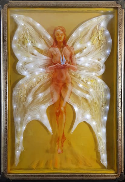 3d glass painting Revelation