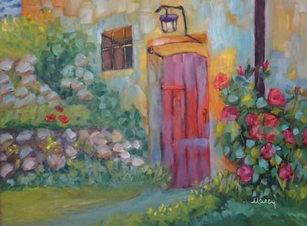 Red Door In Tuscany Art   Marcy Brennan Art