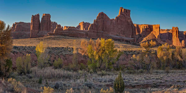 Arches National Park - Courthouse Wash Panorama Fine Art Nature prints for sale