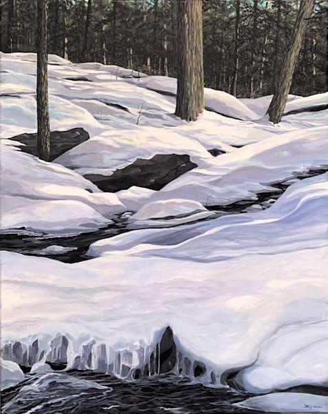 Winter In The Woods Art   Skip Marsh Art