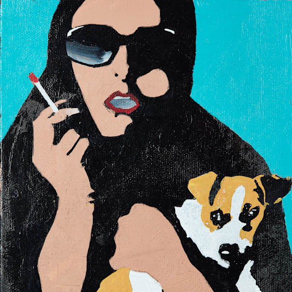 Woman And Dog Art | Wanderlust in ART