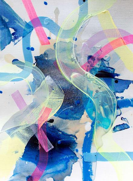 Fuzzy Highlighter Art | Makiko Harris Art