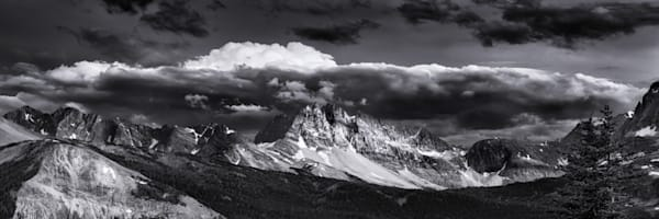 The view of a storm brewing from the summit of Wonder Pass in the Canadian Rockies. Banff National Park| Rocky Mountains|