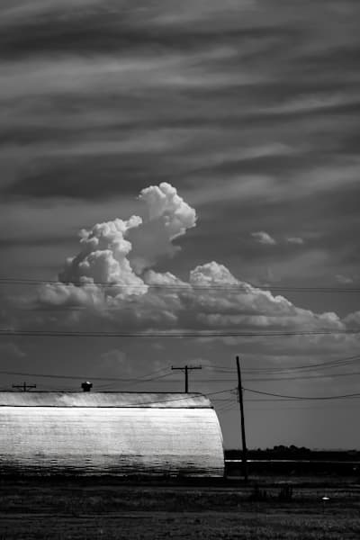 Chrome Quonset Cumulus In The The American Southwest Photography Art | Rinenbach Photography