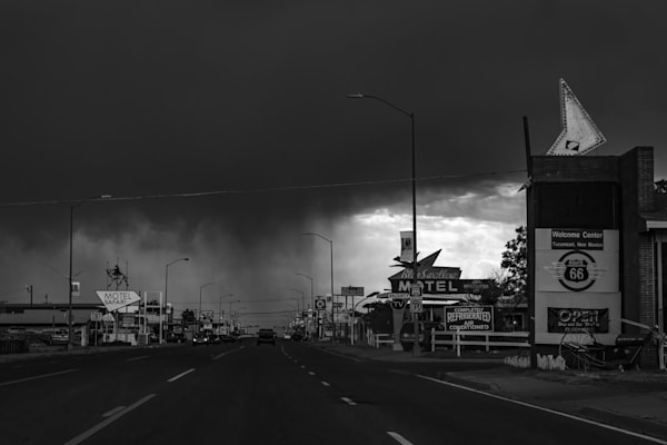 Wet Welcome To Tucumcari, Nm Photography Art | Rinenbach Photography
