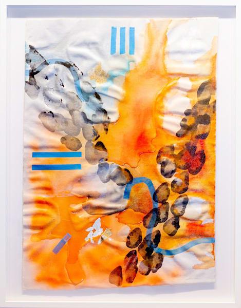 Tangerine Sea (Framed) Art | Makiko Harris Art