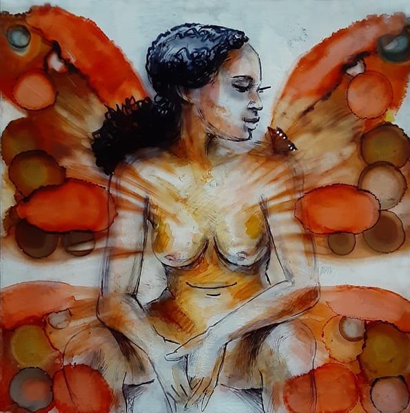 3dglass painting print Wings (II)
