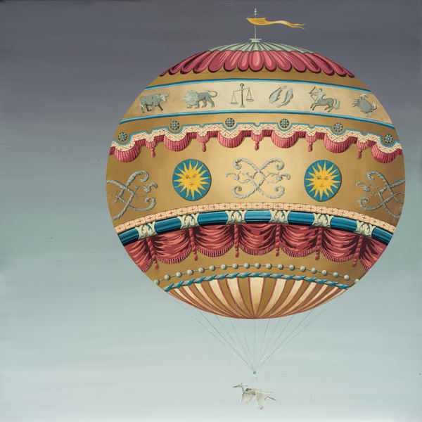 Hot Air Balloon in Night Sky