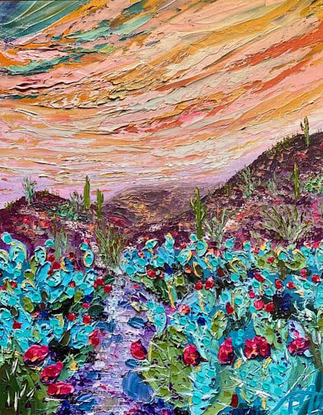 Desert Treasure   Oil Embellished Giclée Art   Tessa Nicole Art