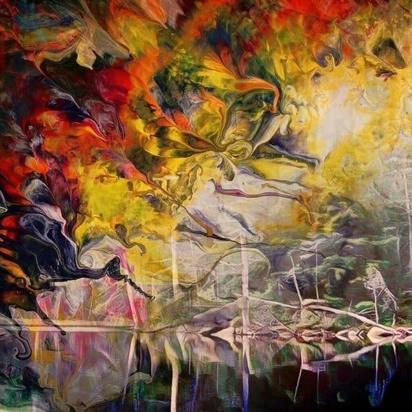 Warm Front On Lac Joan Art | Maciek Peter Kozlowski Art