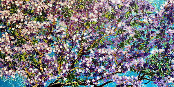In Full Bloom   Oil Embellished Giclée Art   Tessa Nicole Art