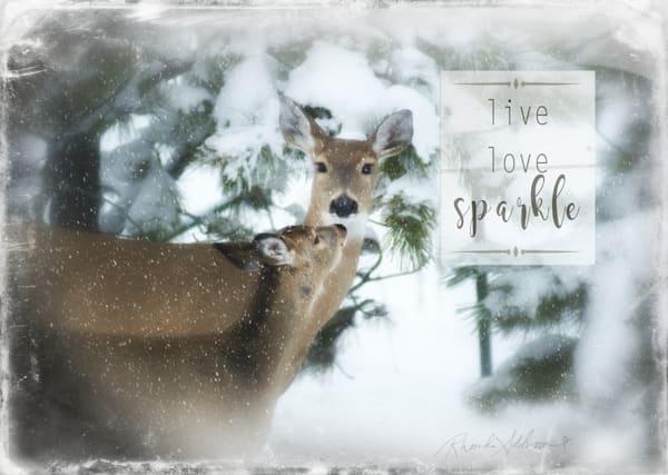 Live Love Sparkle Deer Art