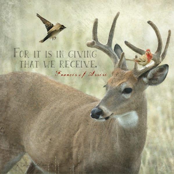 Buck & Birds Inspirational Art