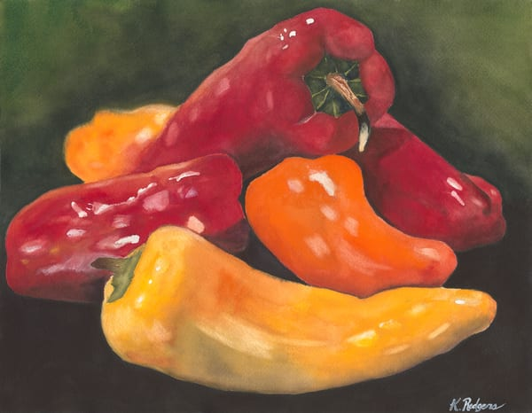 Pick Me A Pepper  Art   Katherine Rodgers Fine Art