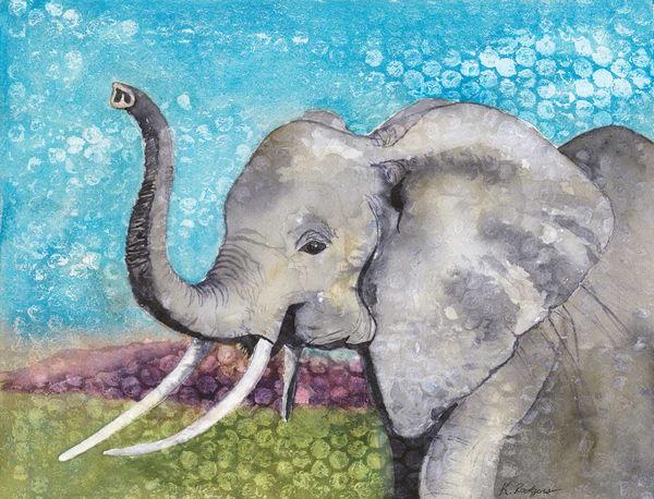 Dot The Elephant  Art   Katherine Rodgers Fine Art