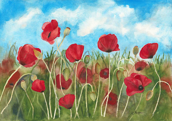Poppies For Our Veterans Art   Katherine Rodgers Fine Art