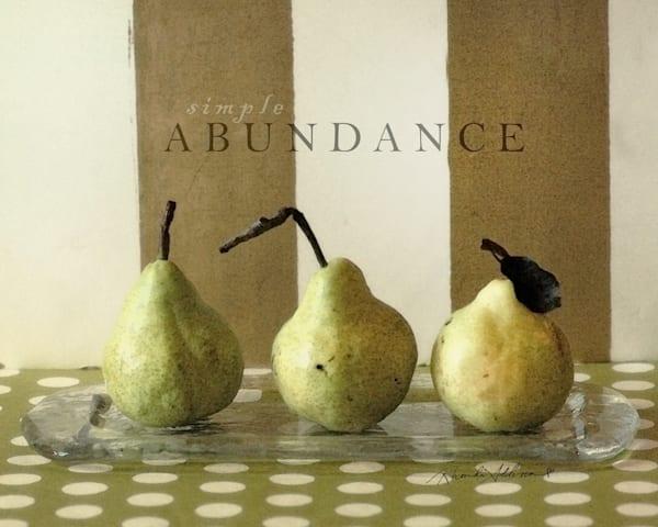 GREEN PEARS Simple Abundance Art