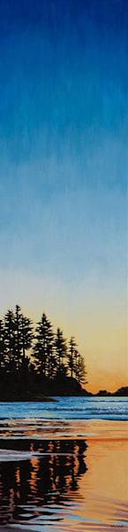 Imbue, 48x12 Tofino inspired sunset painting