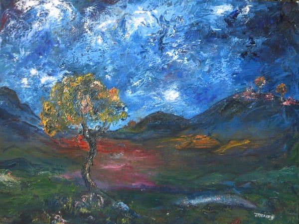 Oak In Valley  Original Oil Art | janakastagnaro