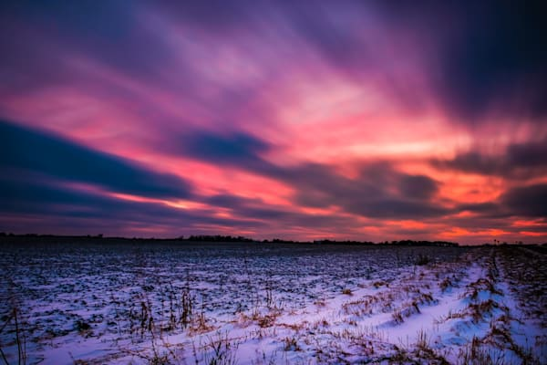 Sunset At The Edge Of Town.  St. Charles, Il Photography Art | Rinenbach Photography
