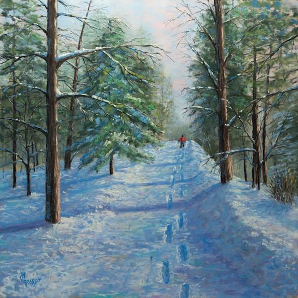 A Walk Through Winter   Original Art   Mark Grasso Fine Art