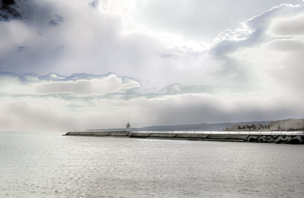 Sea Wall And Fog | Silver Spirit Photography